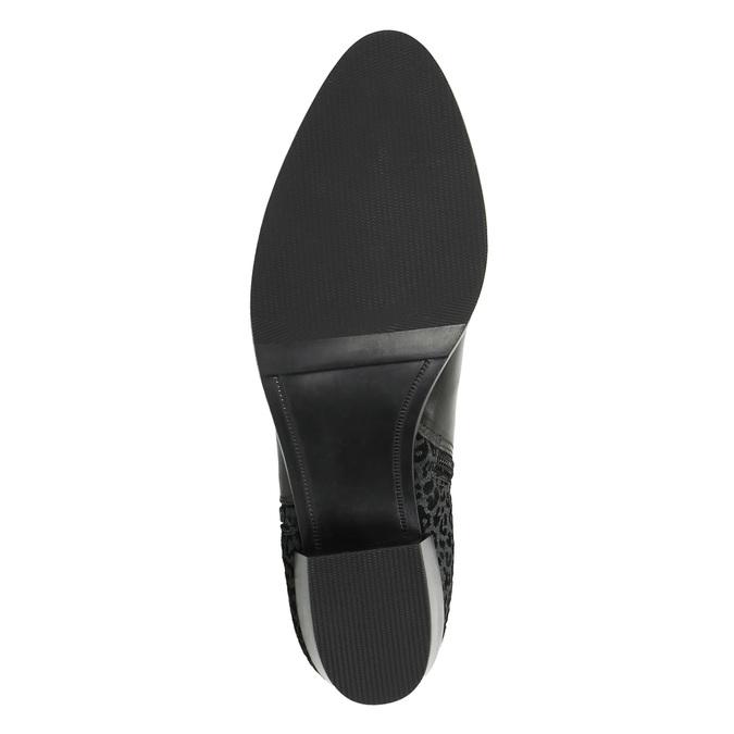 Kožená kotníčková obuv na nízkém podpatku bata, černá, 696-6613 - 26