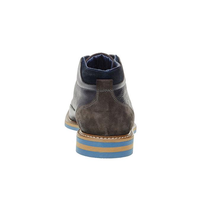 Kožené kotníčkové boty bata, šedá, 894-2121 - 17