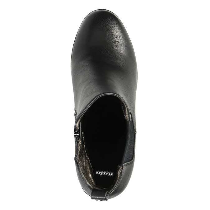 Kotníčková obuv na masivním podpatku bata, černá, 791-6600 - 19