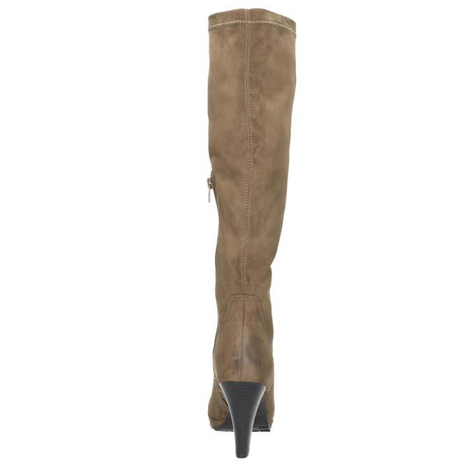 Dámské kozačky na podpatku bata, béžová, 799-2602 - 17