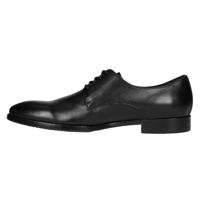 Černé kožené polobotky bata, černá, 824-6732 - 26