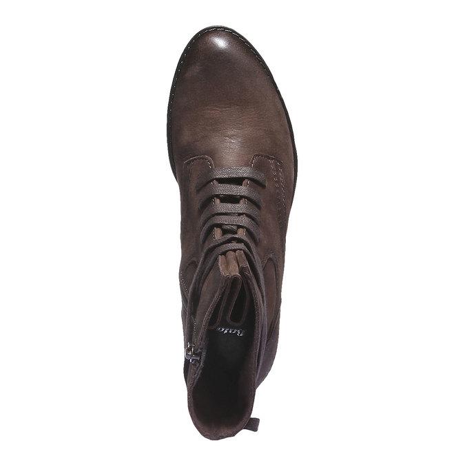 Dámská kožená šněrovací obuv bata, 596-2100 - 19