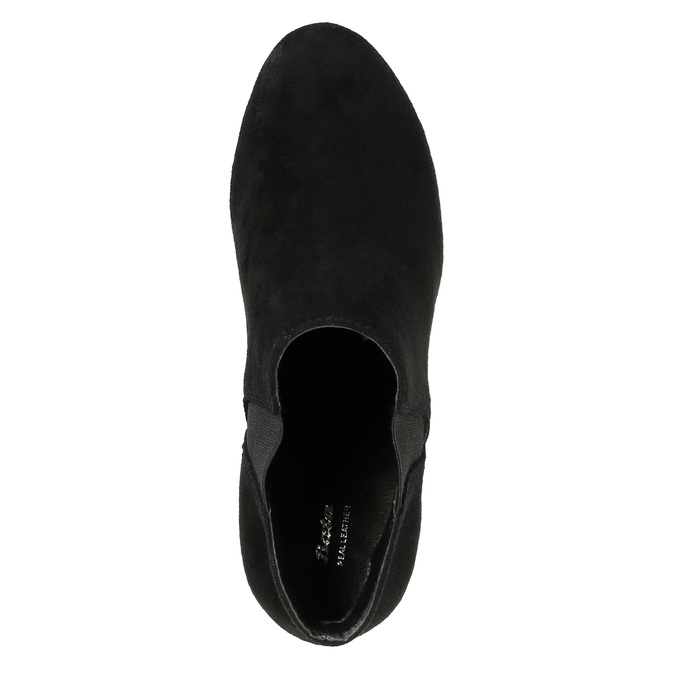 Dámská kotníčková obuv na podpatku s pružnými boky bata, černá, 799-6601 - 19