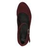 Vínové lodičky s páskem přes nárt bata, červená, 729-5601 - 19