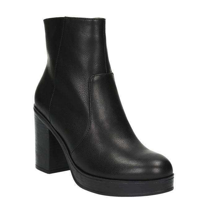 Kotníčková obuv na masivním podpatku bata, černá, 791-6601 - 13