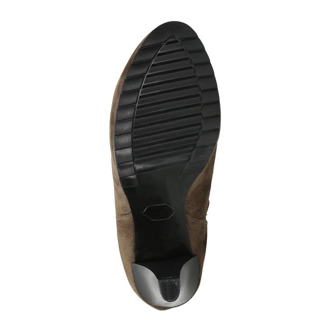 Kotníčkové kozačky na podpatku s pružnými boky bata, béžová, 799-2601 - 26