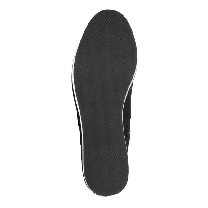 Dámské kozačky na Flatformě bata, černá, 699-6600 - 26