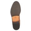 Kožená kotníčková obuv s pružnými boky ten-points, hnědá, 516-3003 - 26