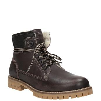 Dámská kožená zimní obuv weinbrenner, hnědá, 594-4491 - 13