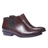 Kožená kotníčková obuv ve stylu Chelsea Boots bata, červená, 594-5106 - 26