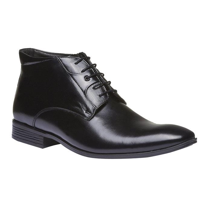Kožená kotníčková obuv conhpol, černá, 894-6103 - 13