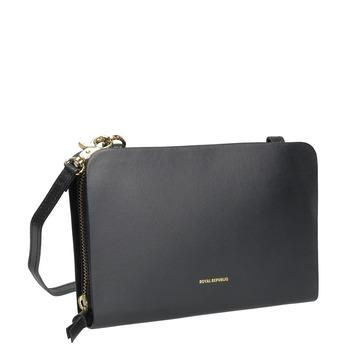 Kožená Crossbody kabelka černá royal-republiq, černá, 964-6017 - 13
