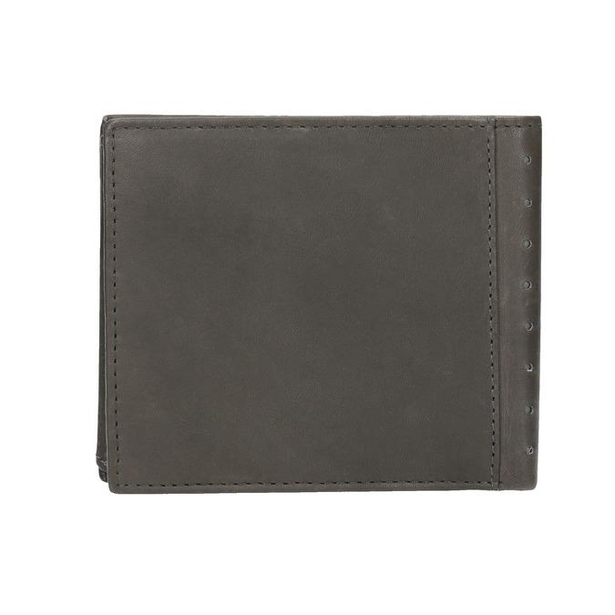 Kožená peněženka s perforací bata, černá, 944-6175 - 19