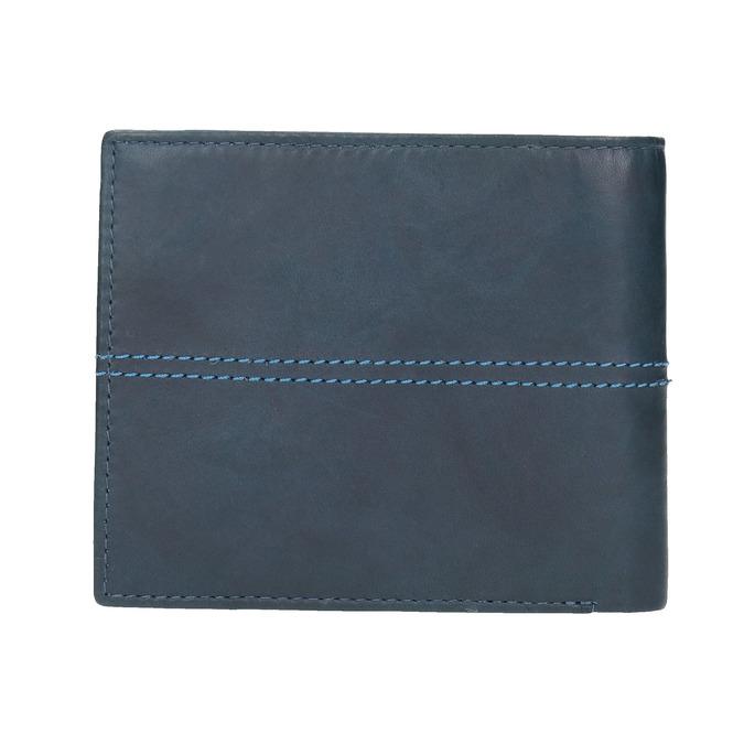 Kožená peněženka s prošíváním bata, modrá, 944-9176 - 19