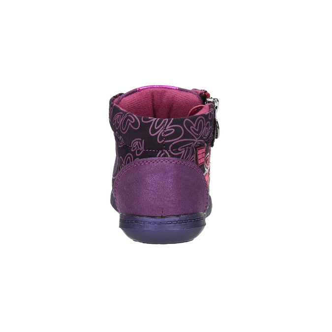 Kožené kotníčkové tenisky se srdíčky, fialová, 326-5009 - 17
