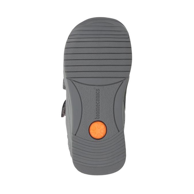 Dětská kožená obuv na suché zipy biomecanics, šedá, 114-5001 - 26