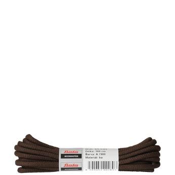 Tkaničky kulaté bavlněné 160 cm bata, hnědá, 901-4161 - 13