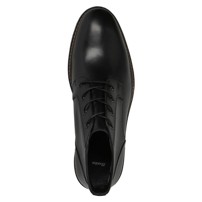 Kožená kotníčková obuv ve stylu Chukka Boots bata, černá, 824-6677 - 19