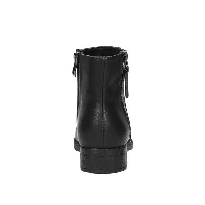 Dámská kotníčková obuv se zipy bata, černá, 591-6612 - 17