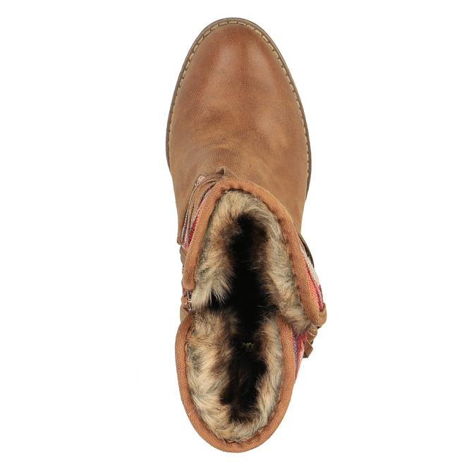 Kotníčkové kozačky ve Western stylu se zateplením bata, hnědá, 699-4603 - 19