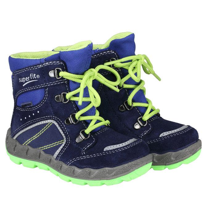Kotníkové zimní boty šněrovací superfit, fialová, 193-9001 - 26