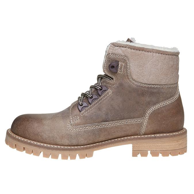 Dámská kožená zimní obuv weinbrenner, hnědá, 594-8491 - 19