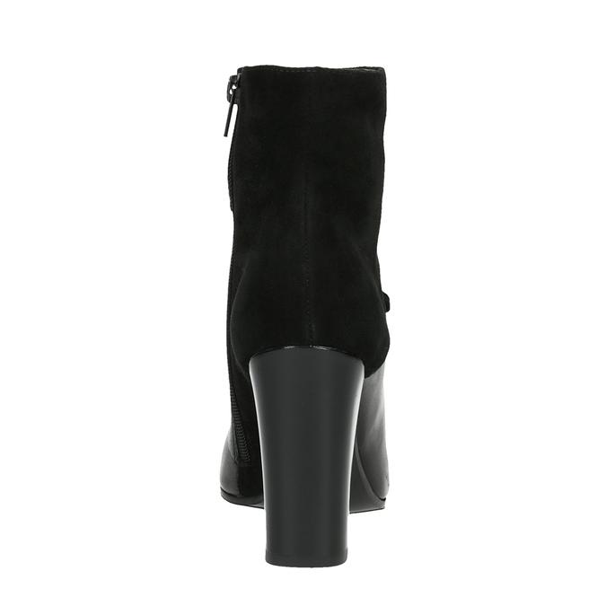 Kožená kotníčková obuv do špičky bata, černá, 794-6641 - 17