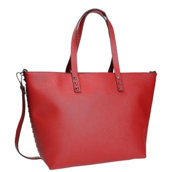 Červená kabelka v Shopper stylu bata, červená, 961-5647 - 13