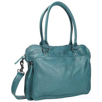 Dámská kožená kabelka sticksandstones, tyrkysová, 964-9005 - 13