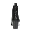 Kožená kotníčková obuv s pružnými boky bata, černá, 696-6644 - 17