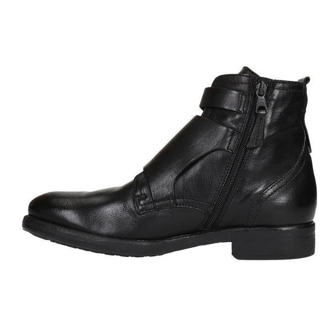 Kožená obuv s přezkami bata, černá, 894-6683 - 26