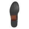 Kožená kotníčková obuv s pružnými boky bata, černá, 596-6643 - 26