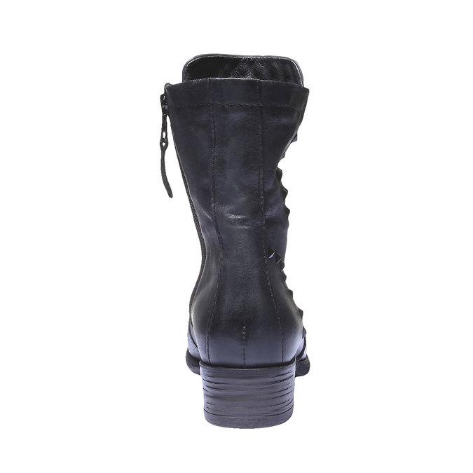 Kožená kotníčková obuv bata, šedá, 596-9101 - 17