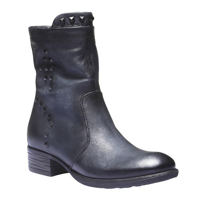 Kožená kotníčková obuv bata, šedá, 596-9101 - 13