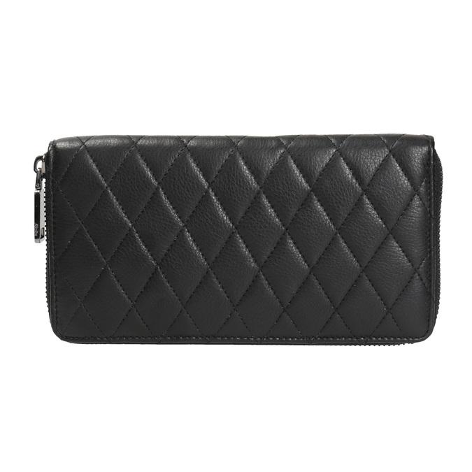 Dámská kožená peněženka s prošíváním bata, černá, 944-6164 - 26