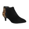 Kožená kotníčková obuv na nízkém podpatku rockport, černá, 613-6006 - 13