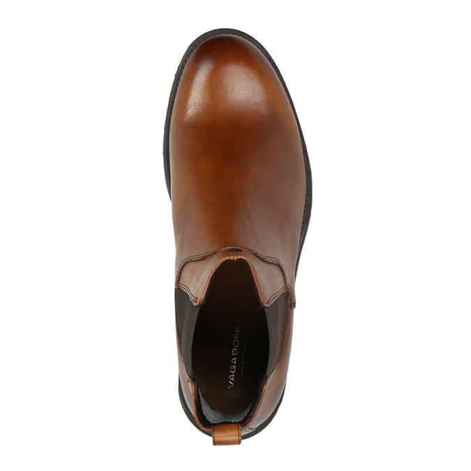 Kožená kotníčková obuv v Chelsea stylu vagabond, hnědá, 514-6009 - 19