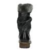 Kožené dětské kozačky mini-b, černá, 394-6191 - 17