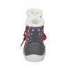 Dětská zimní obuv se srdíčky bubblegummer, šedá, 199-2600 - 17