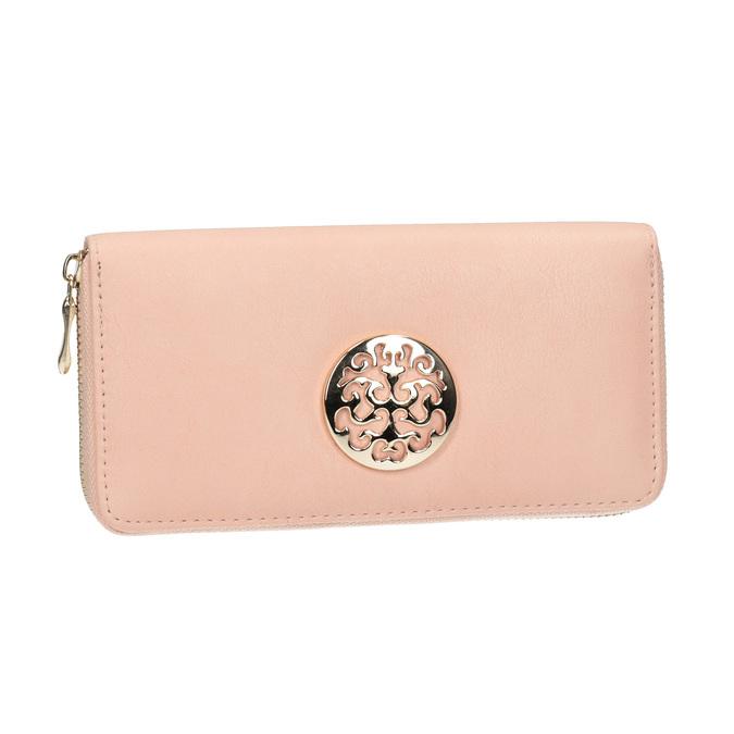 Peněženka s kovovou aplikací bata, růžová, 941-5150 - 13