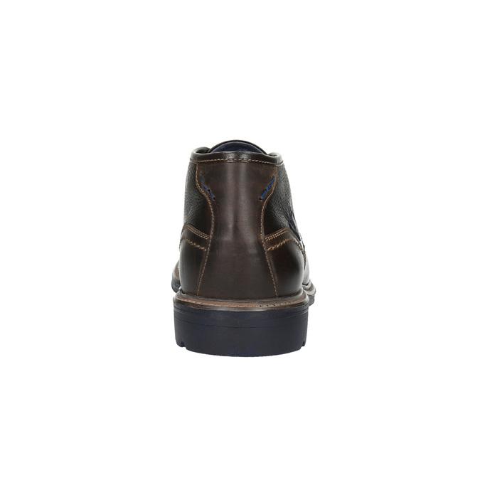 Kožené Chukka Boots bata, hnědá, 824-4701 - 17