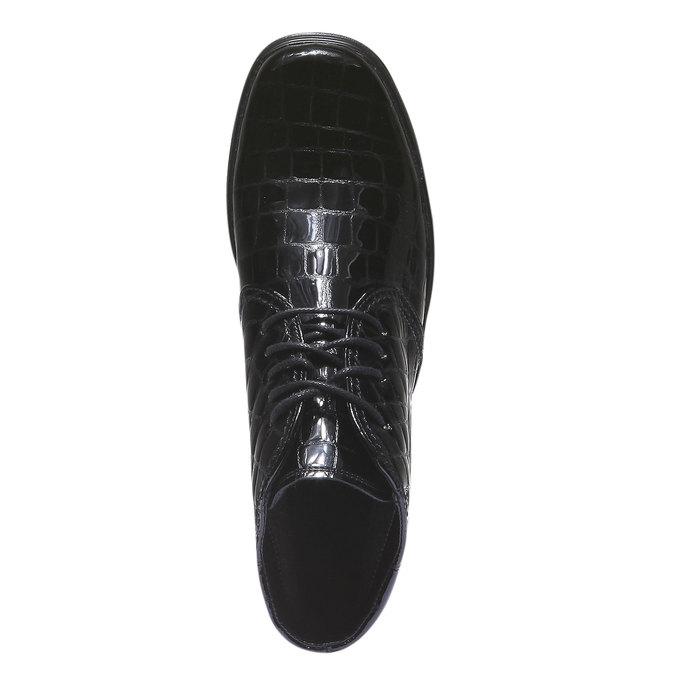 Kožené kotníčkové boty gabor, černá, 598-6104 - 19