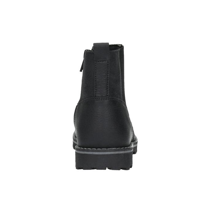 Dětská kožená obuv nad kotníky mini-b, černá, 394-6316 - 17