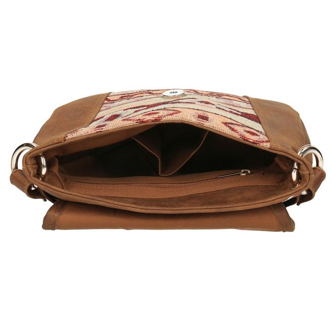 Crossbody kabelka s Etno vzorem bata, hnědá, 969-3642 - 15