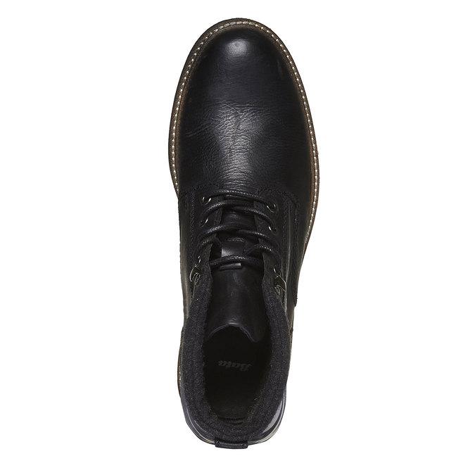 Kožená zimní obuv kotníčková bata, černá, 894-6133 - 19