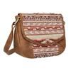 Crossbody kabelka s Etno vzorem bata, hnědá, 969-3642 - 13