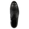Kožená kotníčková obuv s modrou podešví conhpol, černá, 894-6682 - 19