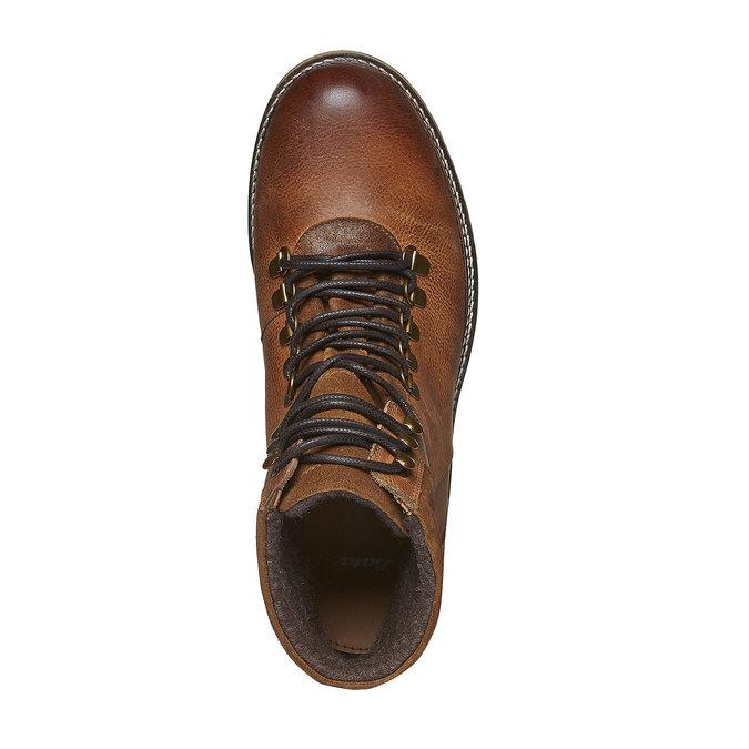 Kožené zimní boty ke kotníkům bata, hnědá, 894-3100 - 19