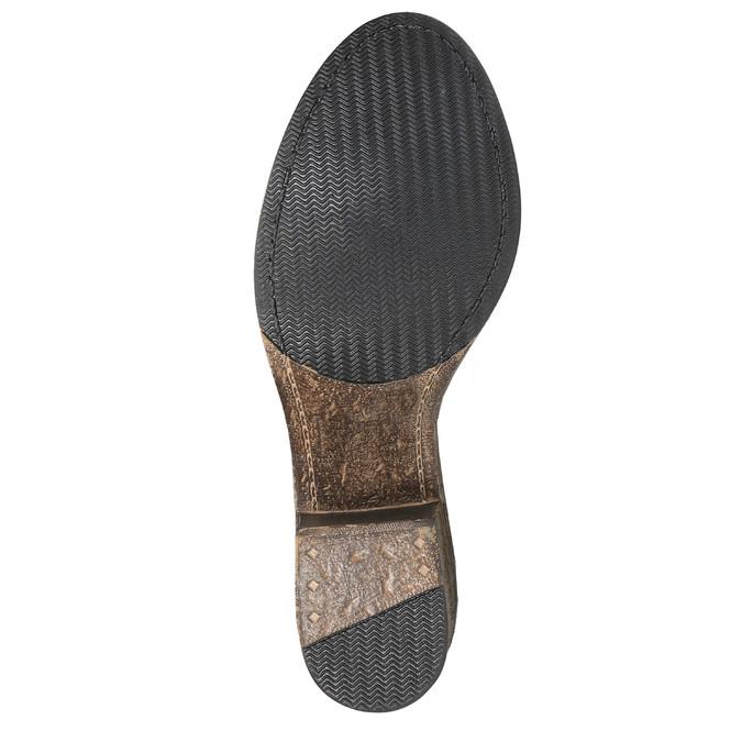Vysoké kožené kozačky ve Western stylu bata, hnědá, 696-3608 - 26