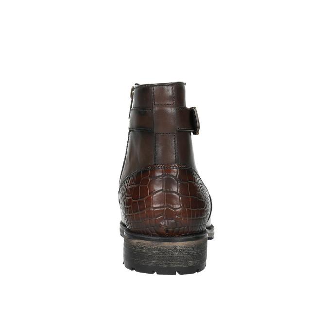 Kotníčková pánská obuv s přezkou bata, hnědá, 894-4652 - 17